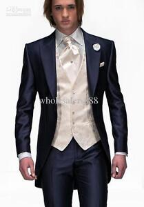 Image Is Loading Slim Fit Navy Best Man Groom Men 039