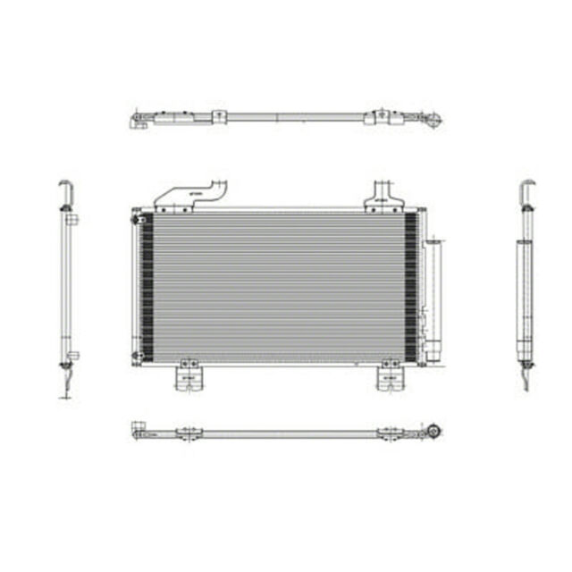 CPP Air Conditioning Condenser For 2009-2014 Acura TSX