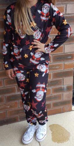KIDS CHILDREN BOYS GIRLS SANTA PENGUIN XMAS FESTIVE CHRISTMAS JUMPER LOUNGE WEAR