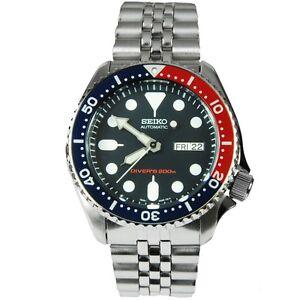 Seiko-Divers-Blue-Red-Bezel-Automatic-200M-Sports-Watch-SKX009K2-SKX009