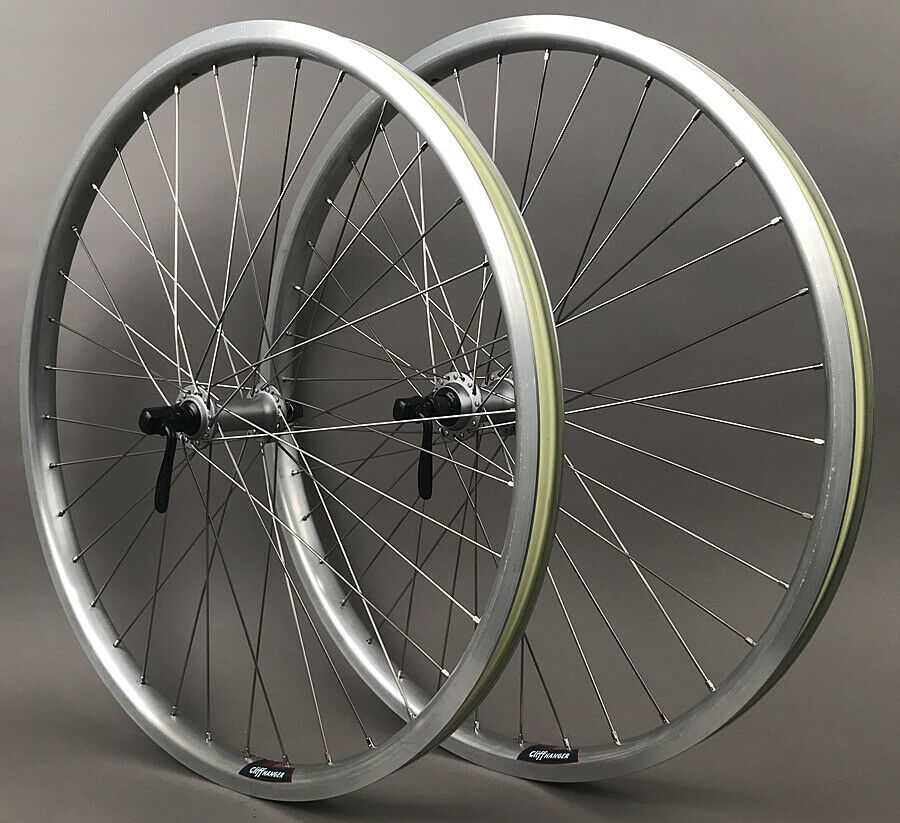 Image 4 - Silver-Heavy-Duty-Velocity-Cliffhanger-29-034-700c-MTB-Bike-Tubeless-Wheels-Shimano