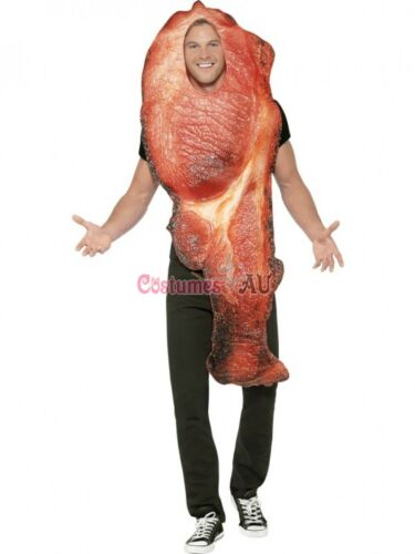 Bacon Womens Mens Ladies Novelty Food Couple Costume Novelty Comical Fancy Funny