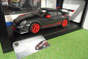 Porsche 911 (997) Gt3 Rs 3.8 Gris De 2010 Au 1/18 Autoart 78141 Voiture Auto Art