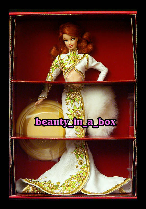 Radiante pelirroja Bob Mackie Alfombra Roja Hollywood Glamour muñeca Barbie