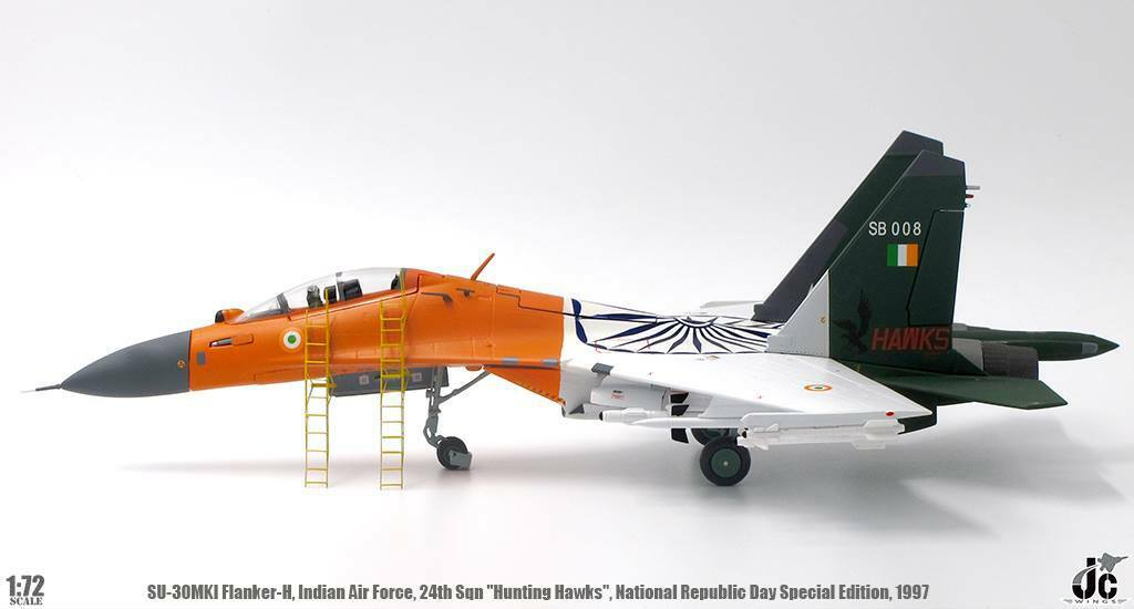 JC Wings 1:72 Indian Air Force Su-30 Flanker-H 'Hunting Hawks' SB008 with Stand