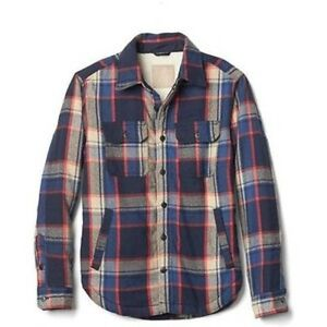 991c157f5 GAP MEN S PLAID SHERPA LINED SHIRT JACKET COAT  118.50 NWTS XS