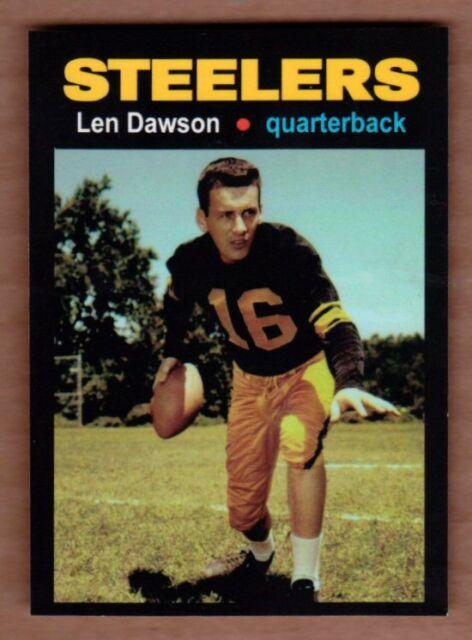 Len Dawson '57 Pittsburgh Steelers rookie season MC Glory Days #11