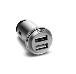Audi-Aluminium-Dual-Ladeadapter-USB-Adapter-12V-Steckdose-2-4-8X0051443