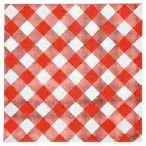 Details About Disposable Red And White Gingham Paper Napkins Pack Of 108 Plaid 13x13