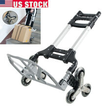 Climbing Stair Cart Folding Hand Truck Trolley 6 Crystal Wheel With Ropes Best