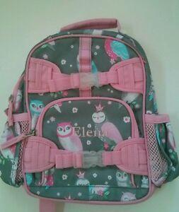 Pottery Barn Kids Mackenzie Gray Pink Owl Mini Preschool