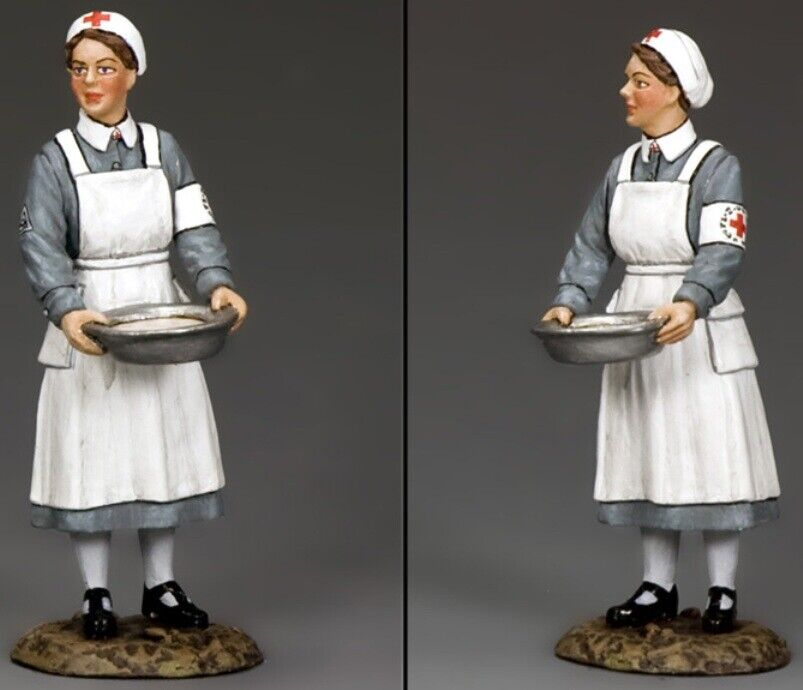 KING & COUNTRY WW2 GERMAN ARMY WH006 NURSE WITH BASIN MIB