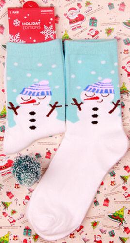 Women/'s Winter Socks Christmas Gift Warm Soft Cotton Sock Cute Santa Claus Deer#