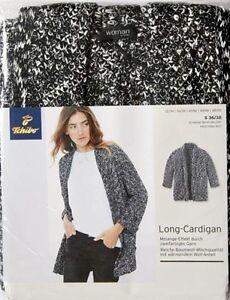 Tcm tchibo damen longcardigan weit gr s 36 38 neu ebay for Tchibo kleidung damen