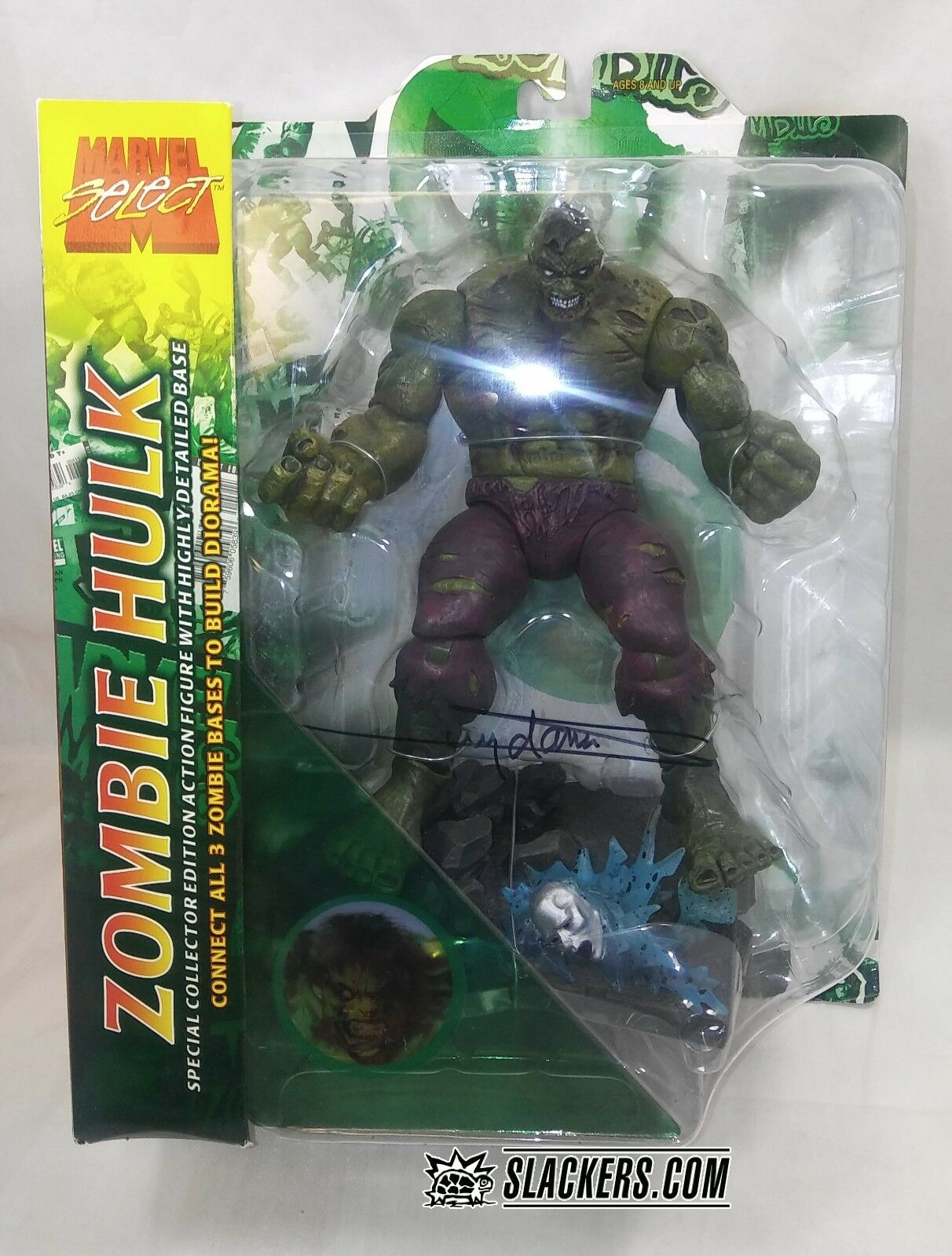 Marvel Select ZOMBIE HULK Avengers NEW IN BOX   Signed by ARTHUR SUYDAM Coll Ed
