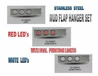 Stainless Steel Mud Flap Hanger Set W/ Dual Function (57 Led Ea) Lights - 2.5