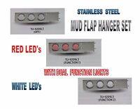Stainless Steel Mud Flap Hanger Set W/ Dual Function (57 Led Ea) Lights - 2.5
