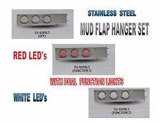 "Stainless Steel Mud Flap Hanger set w/ Dual Function (57 LED ea) Lights - 2.5"""