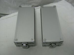 2-New-Aluminum-Locking-Coin-Holder-Display-Cases-Storage-Box-039-s-with-Keys