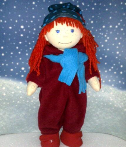 Babypuppen & Zubehör Schneeanzug dunkelrot,Mütze und Schal passend für Puppe Lotta,Souri 38 cm Neu