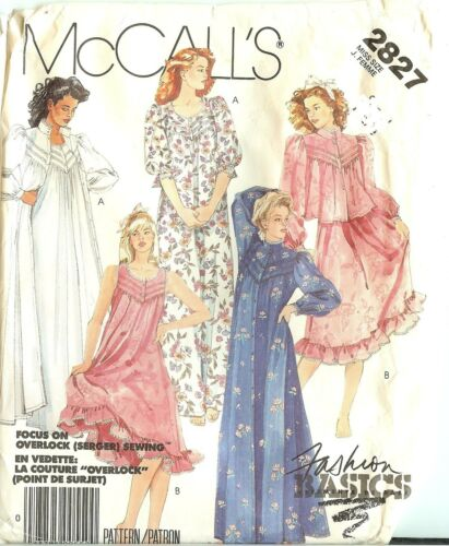 OOP McCalls Sewing Pattern Misses McCall/'s Sleepwear Lingerie Size XS Small