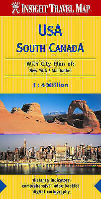 USA and Canada South Insight Travel Map, , Used; Good Book