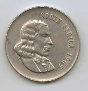 SOUTH-AFRICA-20-Cents-English-Legend-1965-Nickel-6-0-g-24-2-mm
