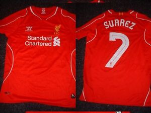 4e73c47e0a7 Liverpool SUAREZ Boys Youth XL Football Soccer Jersey Shirt Warrior ...
