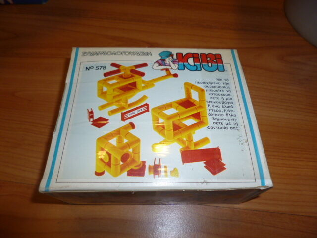 VINTAGE RARE RARE RARE GREEK CONSTRUCTION DELUXE KIT B SERIES No 578 BY KIBI 80s NEW MIB 2b402e