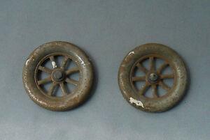 S396 - 2 Roue Authentique Pour Voiture Avant 1914 Diametre 5 Cm