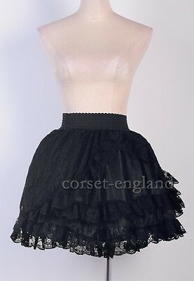 Sexy Gothic Black Lolita Mini Dress Size S-6XL Vampire Adult Lace Skirt CE A2779