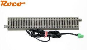 Roco-H0-61110-A-gerades-Gleis-geoLine-mit-Einspeisung-Z21-Steckerklemme-NEU