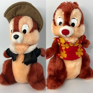 Vtg-Chip-and-Dale-Rescue-Rangers-Disney-Plush-12-034-Applause-2-Stuffed-Animals