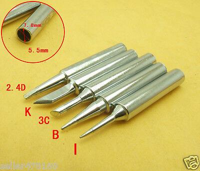 5PCS 907H-I B 3C 2.4D K Tips 6mm jack Solder Iron Tip for 70W//60W Soldering Iron