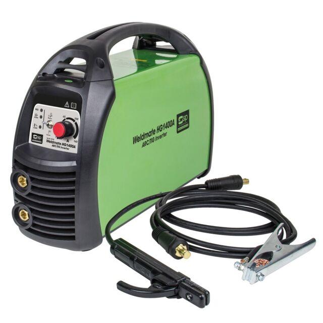 SIP 05726 Weldmate HG1400A Arc Tig Inverter Welder 230V with Welding Lead & Rod