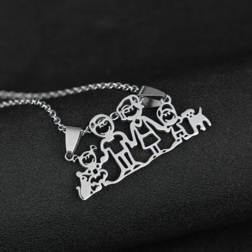 Family Mama Bear Baby Cubs Mother Mom Mommy Daughter Son Necklace Gift Jewelry