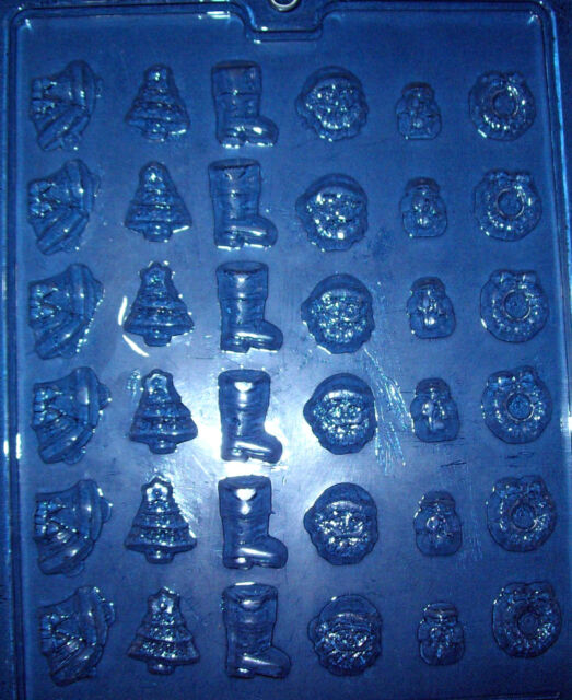 36 SMALL ASSORTED CHRISTMAS SHAPES CHOCOLATE MOULD