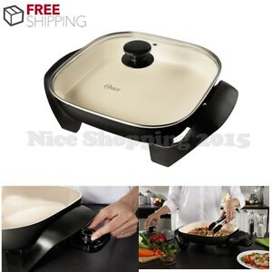 Oster Electric Skillet 12 Quot Frying Pan Nonstick Ceramic