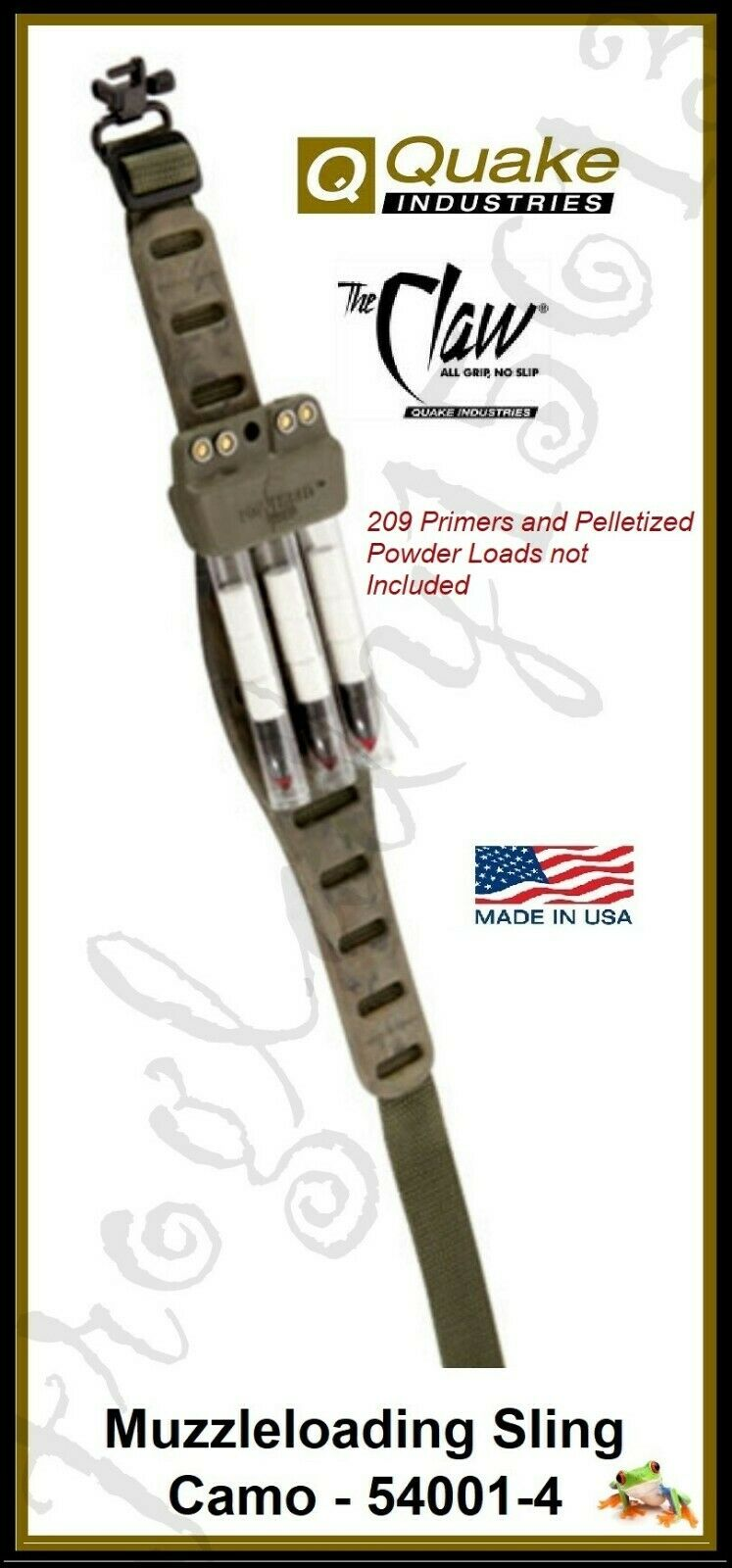 Blackpowder Products The Claw Countour Rifle Sling 530015 Camo NEW