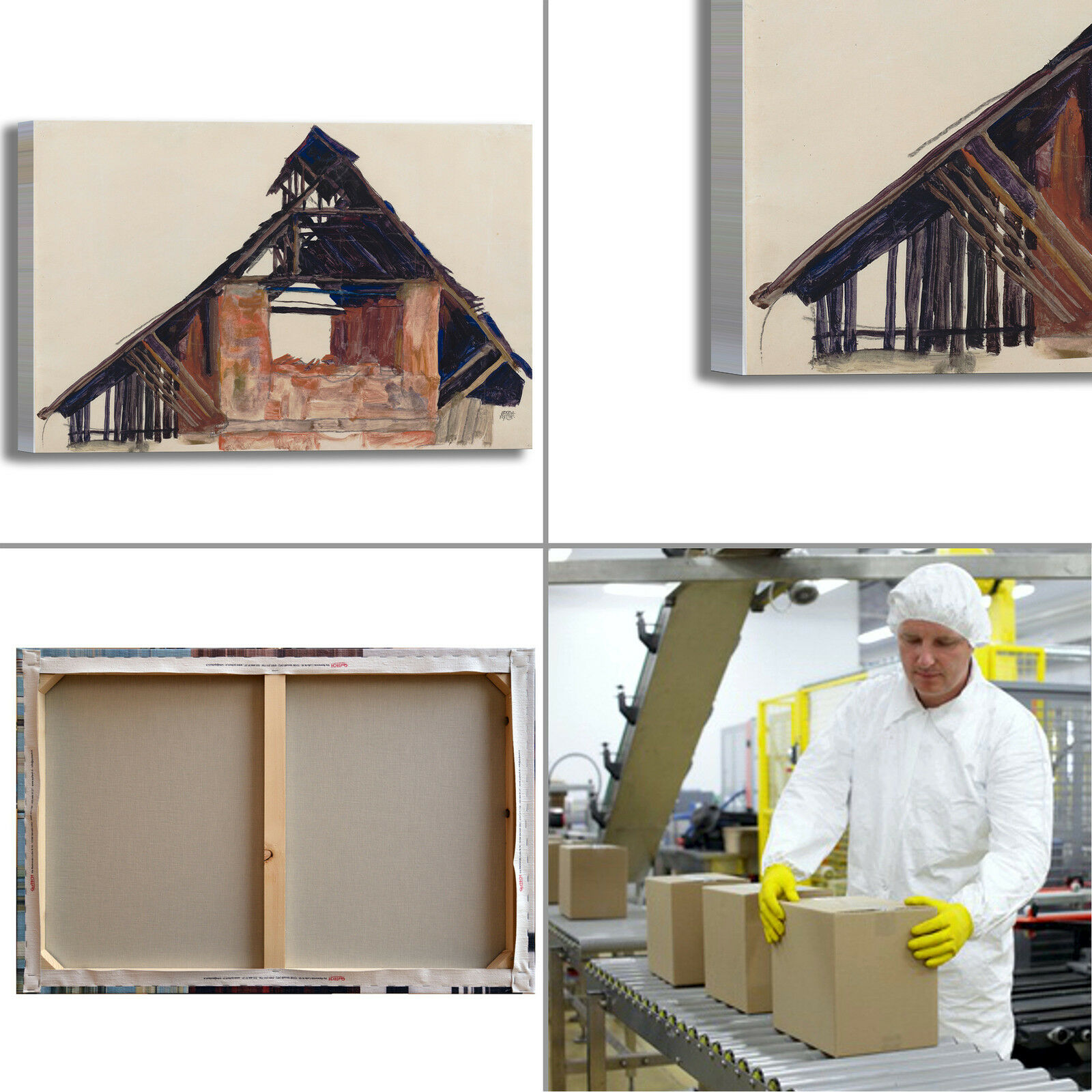 Schiele arRouge vecchio timpano design quadro stampa tela dipinto telaio arRouge Schiele o casa 946647