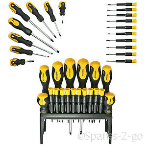 18 Piece Mechanics Screwdriver Tool Kit Precision Phillips Torx Pozi Slotted DIY