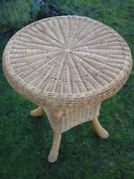 Couchtisch, Beistelltisch aus Peddigrohr, Rattan, 70cm
