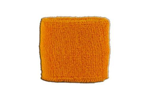 Schweißband Fahne Flagge Einfarbig Orange 7x8cm Armband für Sport