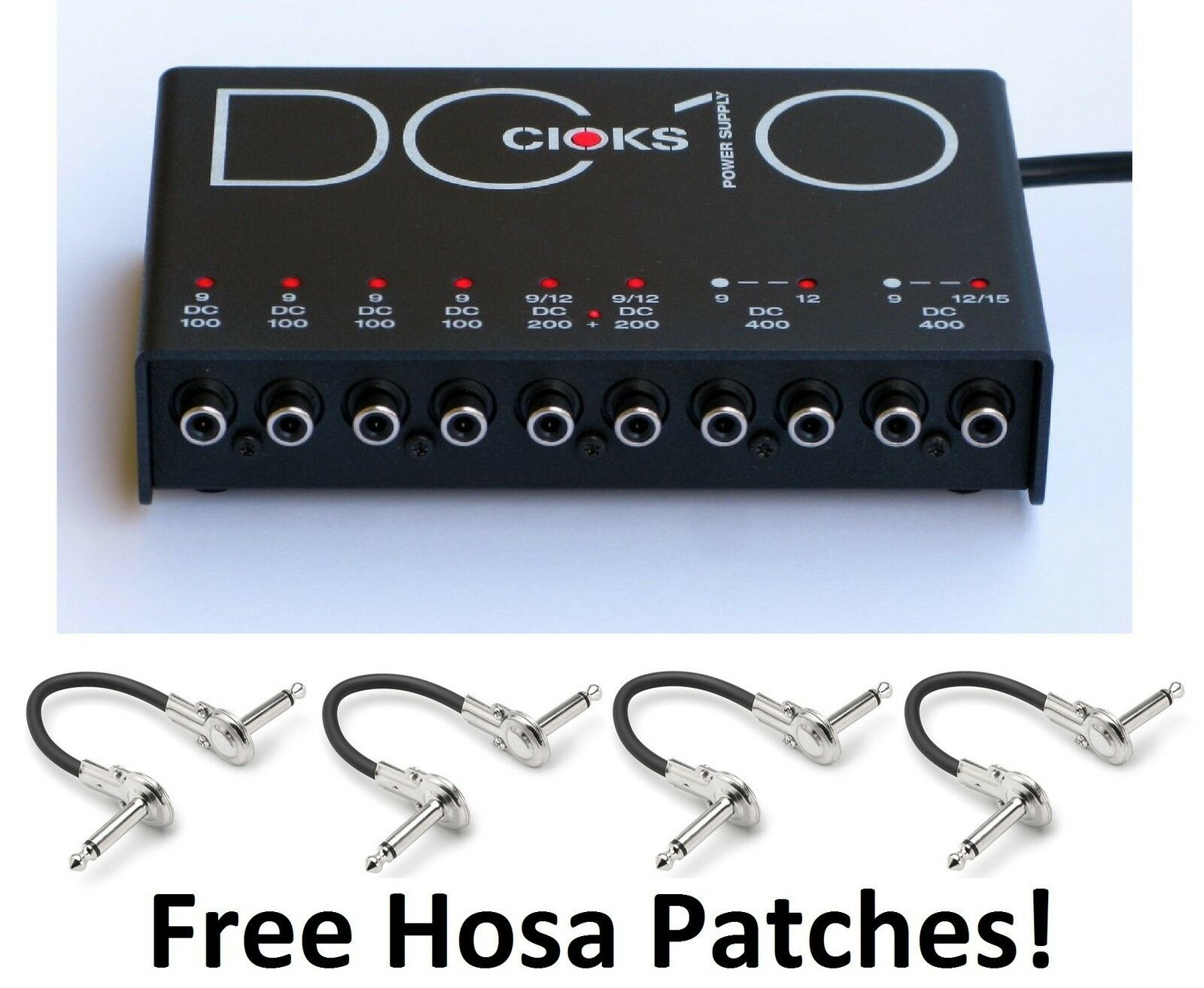 New CIOKS DC10 Guitar Pedal Power Supply  Free Hosa Patches  DC 10