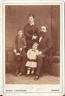 Benque & Kindermann CAB photo Schönes Familienbild - Hamburg 1870er