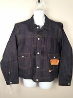 Double Rl Rrl Polo $390 Blue Japanese Denim R21 Icon Jean Jacket Mens Sz Xl