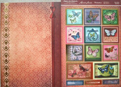 Flight Of The Butterflies déjouée A4 Hunkydory Topper Feuille /& Assorti Carte A4