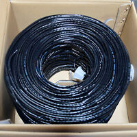 CAT5E CABLE UTP 1000FT BLACK SOLID WIRE BULK ETHERNET LAN NETWORK CAT5 1000 RJ45