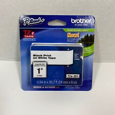 Brother P Touch Tze 251 Black Print On White Tape 1 Tz Tapes 24 Mm New Genuine