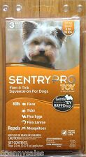 Sentry PRO TOY Dog Flea Tick Medicine 3 Month Supply under 10 Pounds lbs Drops